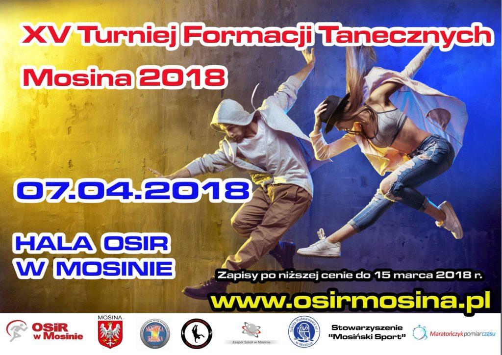 Osiągnęliśmy limit zgłoszeń na XV Turniej Formacji Tanecznych Mosina 2018