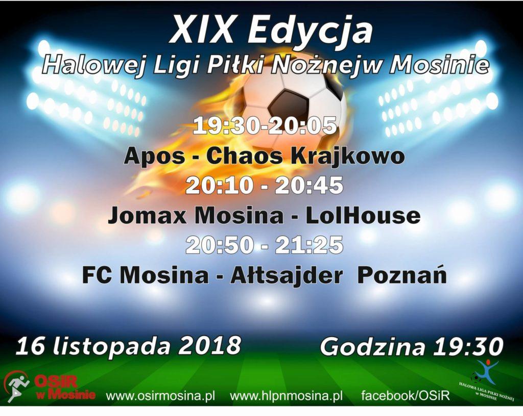 Inauguracja Halowej Ligi Piłki Nożnej w Mosinie