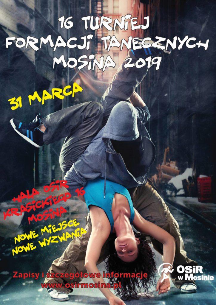 Znamy już termin! 31marca 2019 r. XVI Turniej Formacji Tanecznych Mosina 2019