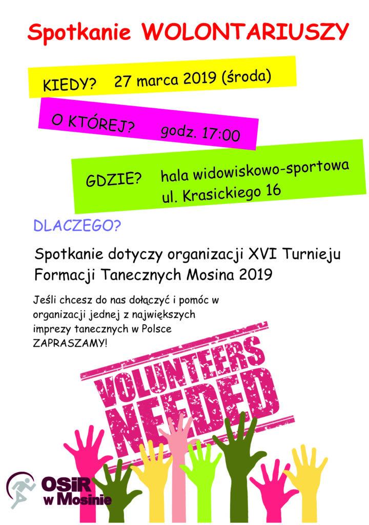 Spotkanie wolontariuszy - XVI Turniej Formacji Tanecznych 2019