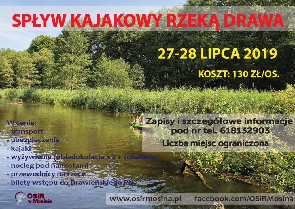 Spływ kajakowy rzeką Drawa