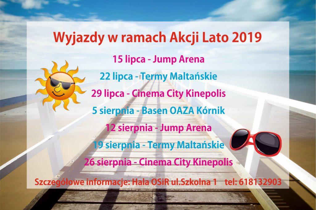 Wyjazdy w ramach Akcji Lato 2019