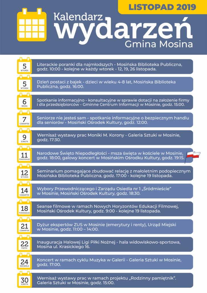 Kalendarz wydarzeń gminnych