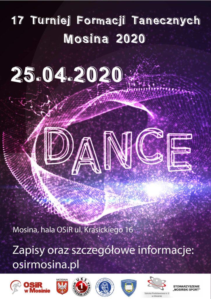 ZAPISY - XVII Turniej Formacji Tanecznych - Mosina 2020