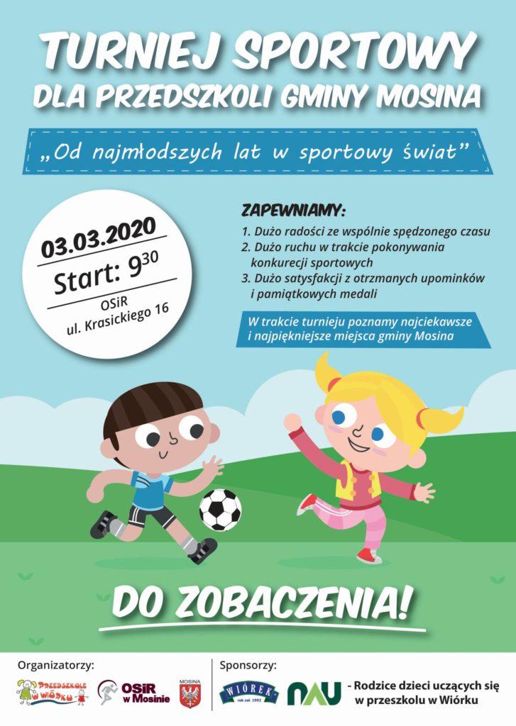 Turniej Sportowy dla Przedszkoli Gminy Mosina