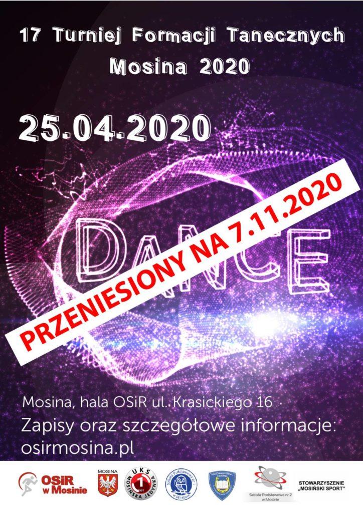 Turniej Tańca w Mosinie - termin zmieniony