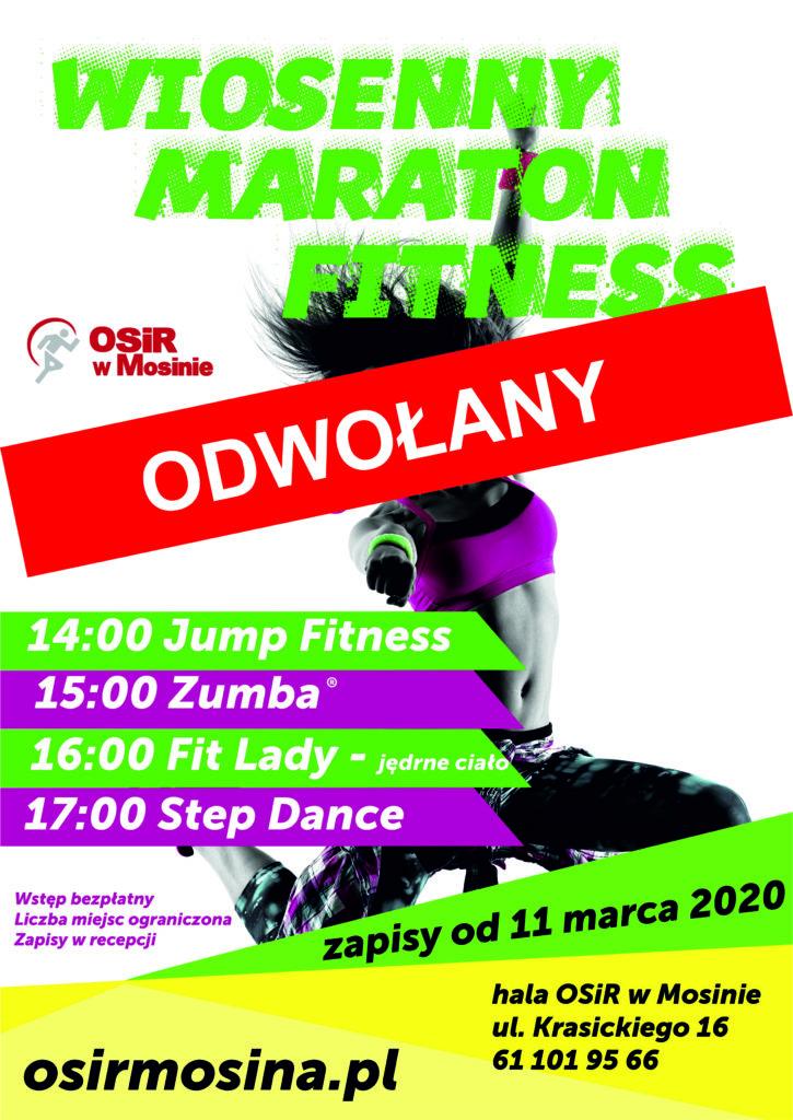 Wiosenny Maraton Fitness - odwołany