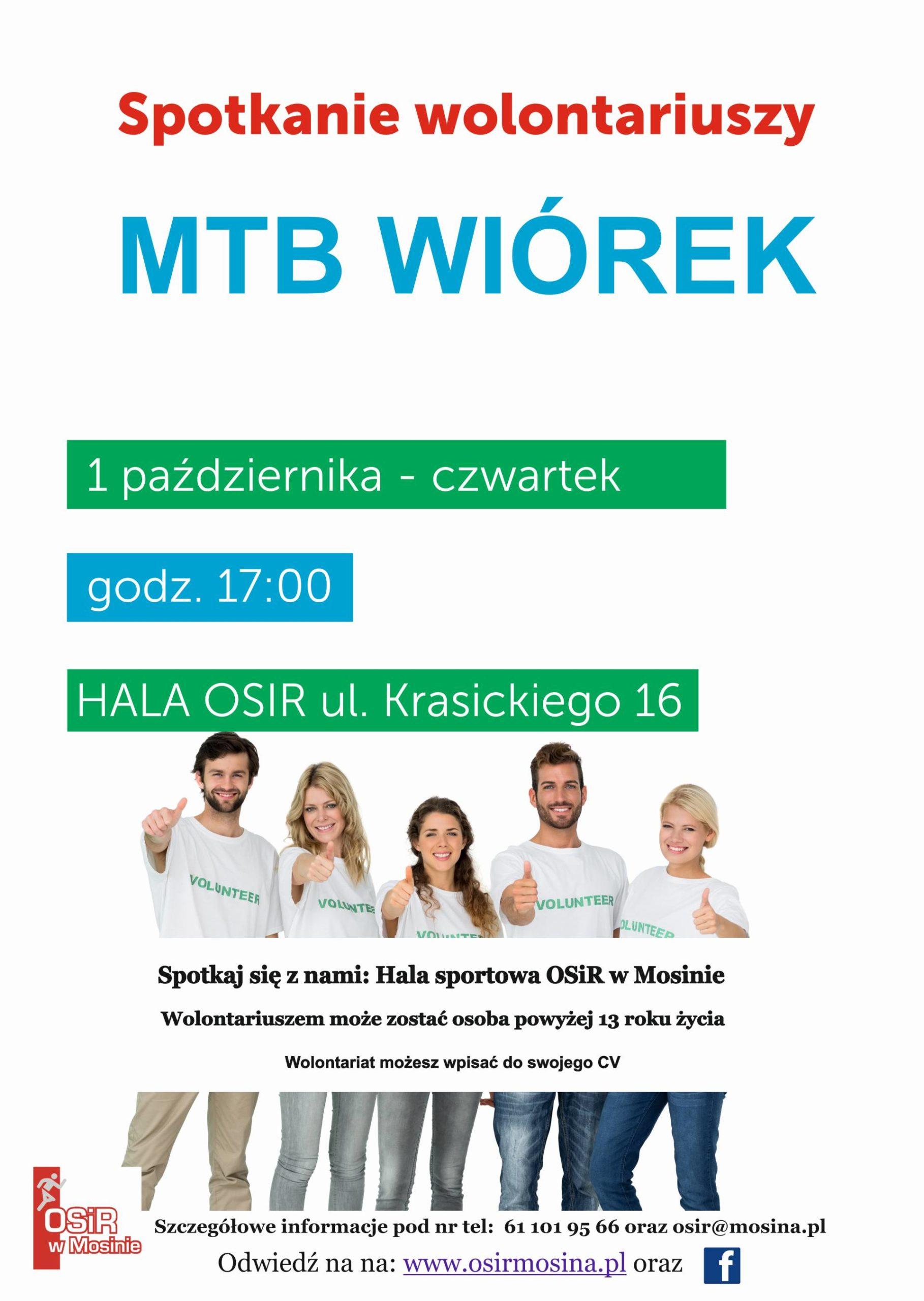 Spotkanie wolontariuszy na MTB Wiórek 01,10,2020