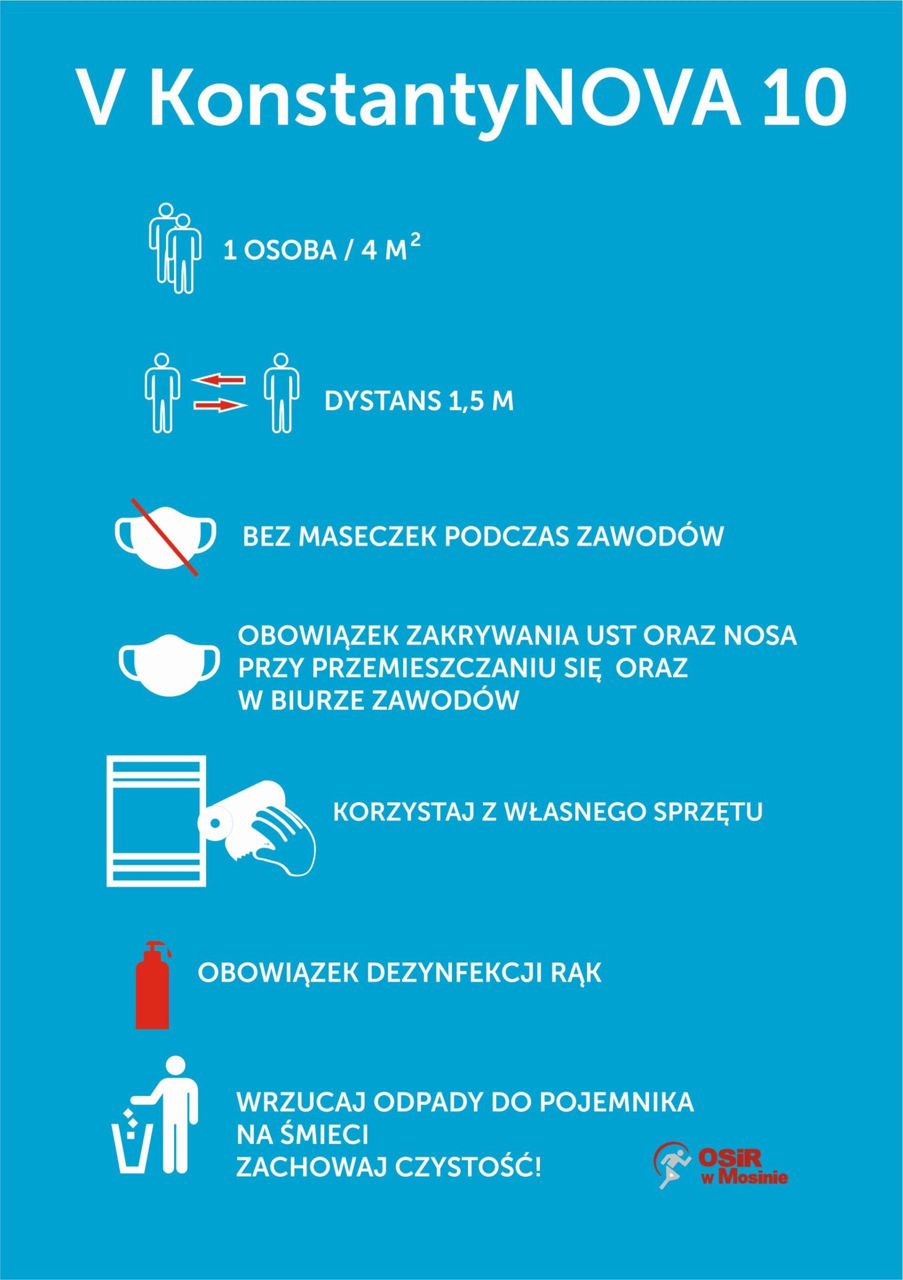 Zasady bezpieczeństwa obowiązujące podczas biegu V Konstantynova dycha w dniu 11.10.2020 r.