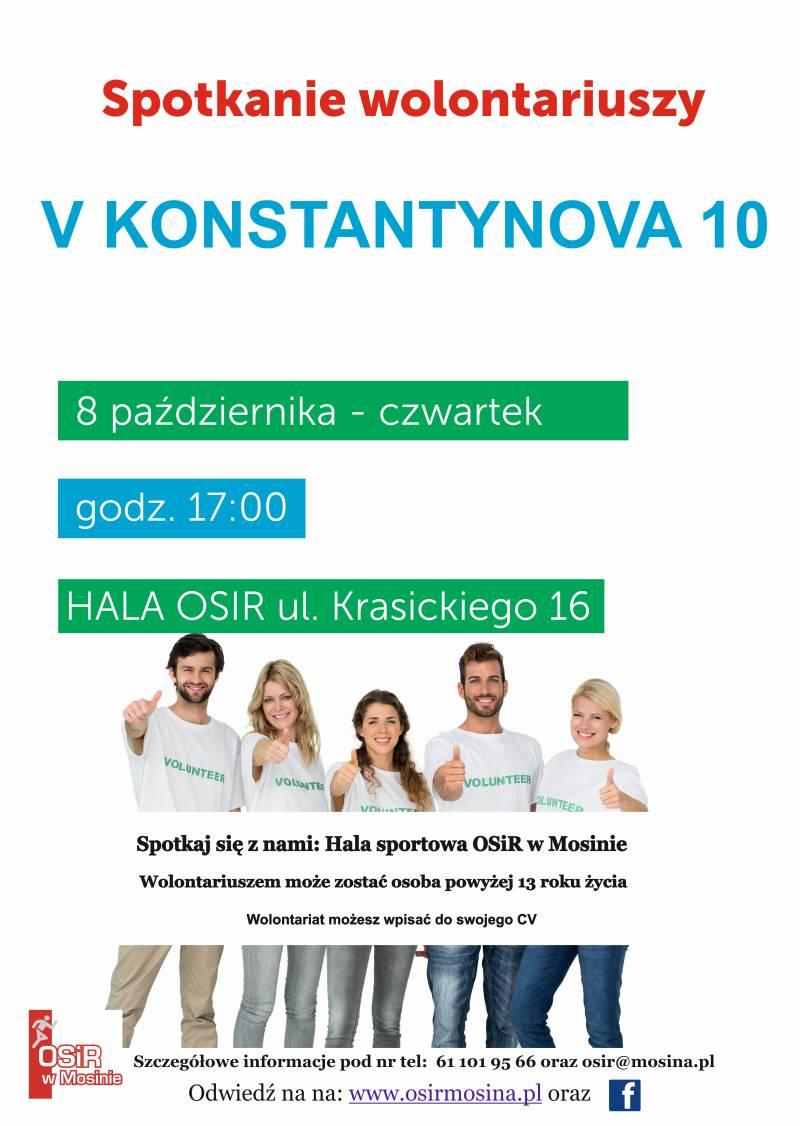 Spotkanie wolontariuszy na bieg V Konstantynova dycha odbędzie się 8.10.2020.