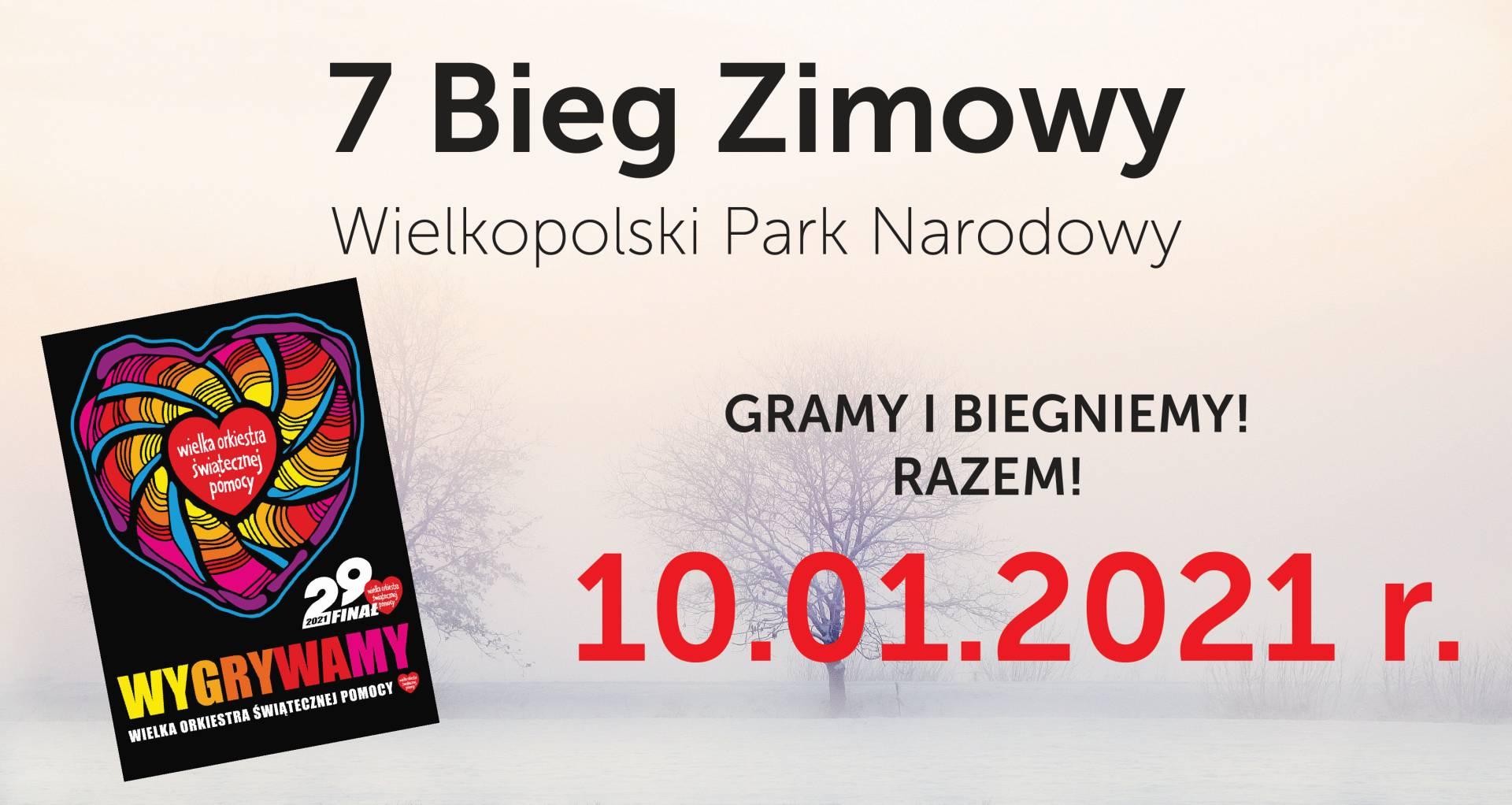7 Bieg Zimowy po Wielkopolskim Parku Narodowym rusza 10 stycznia 2021 r.