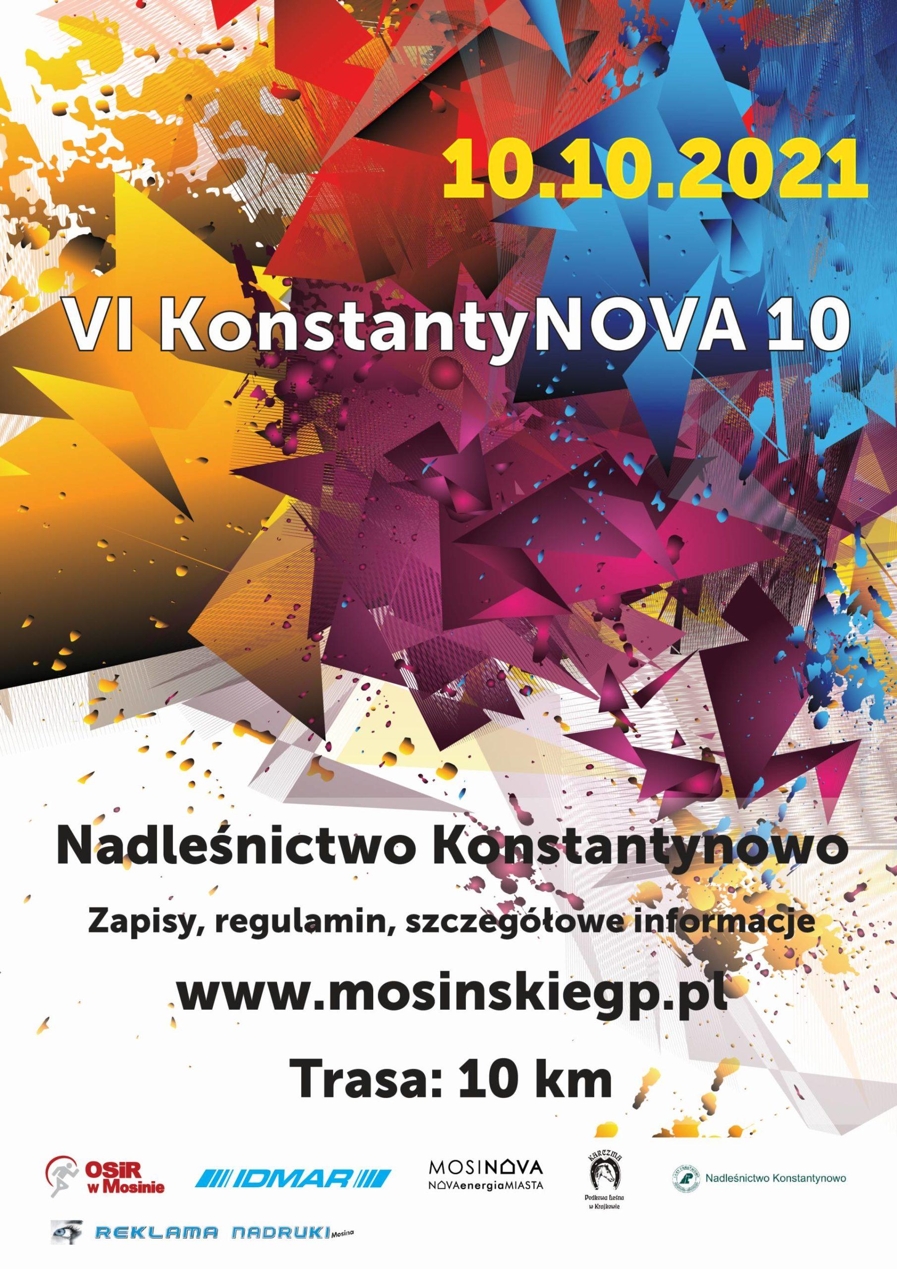 Plakat informujący o biegu - 6 Konstantynowa dziesiątka